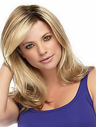 cheap -synthetic wigs body wave ombre 1b blonde color heat resistant wigs for women