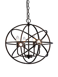 cheap -QINGMING® 4-Light 40 cm Designers Pendant Light Metal Painted Finishes Retro 110-120V / 220-240V