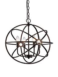 abordables -QINGMING® 4 lumières Lampe suspendue Lumière dirigée vers le haut Finitions Peintes Métal Designers 110-120V / 220-240V Ampoule non incluse / E12 / E14