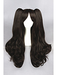 cheap -long wave brown fate stay night tohsaka rin synthetic 28inch anime cosplay ponytails wigcs 216a Halloween