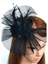 cheap -Feather / Net Headbands / Fascinators / Flowers with Floral 1pc Wedding / Special Occasion Headpiece