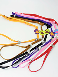 cheap -Cat Dog Leash Hands Free Leash DIY Supplies Training Safety Solid Colored Rainbow Cartoon Fabric Nylon Alloy Purple Yellow Red