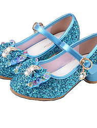 cheap -Girls' Party / Mary Jane / Basic Pump PU Heels Little Kids(4-7ys) / Big Kids(7years +) Crystal / Bowknot Pink / Blue / Silver Spring & Summer / Flower Girl Shoes / EU36