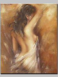 cheap -Oil Painting Hand Painted - People Nude Modern European Style Stretched Canvas
