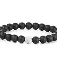cheap -Men's Turquoise Bead Bracelet Chakra Natural Fashion equilibrio Gold Plated Bracelet Jewelry Black / White For Gift Sports