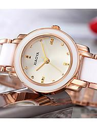Недорогие -Жен. Модные часы Кварцевый Серебристый металл / Золотистый Аналоговый Серебристый / белый Золото / Белый