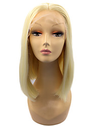 cheap -Synthetic Lace Front Wig Straight Straight Bob Lace Front Wig Blonde Short Light Blonde Synthetic Hair Women's Middle Part Bob Blonde