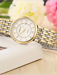 Недорогие -Жен. Модные часы Кварцевый Золотистый Аналоговый Золотой Белый Черный