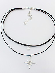 cheap -Women's Choker Necklace Personalized Fashion Euramerican Feather Alloy Silver Necklace Jewelry For Party Special Occasion Gift