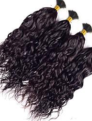 Недорогие -4 Связки Индийские волосы Волнистый Пучок волос Ткет человеческих волос Расширения человеческих волос / 8A
