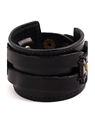 cheap -Men's Women's Leather Bracelet Fashion Leather Bracelet Jewelry Black / Brown For Christmas Gifts Party Special Occasion Gift