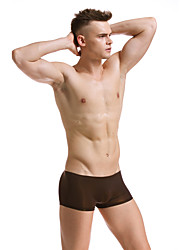 cheap -Men's Solid Colored Boxers Underwear Ice Silk 1 PC Light Blue M