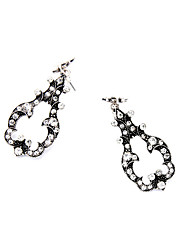 cheap -Women's Crystal Hoop Earrings Personalized Unique Design Fashion Euramerican Earrings Jewelry Silver For Wedding Party Birthday Gift