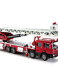 Недорогие -1:50 Металлические пластик Пожарная машина Игрушечные грузовики и строительная техника Игрушечные машинки Детские Взрослые Игрушки на солнечных батареях