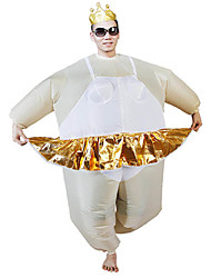 cheap -Ballet Cosplay Costume Halloween Props Inflatable Costume Men's Women's Movie Cosplay Halloween Leotard / Onesie Air Blower Halloween New Year Polyester