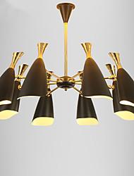 Недорогие -8-Light 90 cm Мини / Конструкторы Люстры и лампы Металл Электропокрытие Современный современный / Традиционный / классический 110-120Вольт / 220-240Вольт