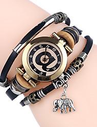 cheap -Women's Bracelet Watch Wrap Bracelet Watch Quartz Ladies Casual Watch Analog White Black Red / One Year / Leather / SSUO 377