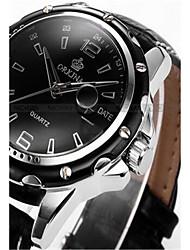 cheap -Men's Fashion Watch Quartz Digital Silicone Black 30 m Analog Black