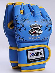 Недорогие -Боксерские перчатки Для Бокс Без пальцев Защитный Кожа Черный / Красный / Синий