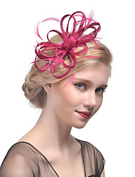 cheap -Tulle / Rhinestone / Feather Headbands / Fascinators / Headwear with Floral 1pc Wedding / Special Occasion Headpiece