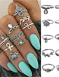 cheap -Women's Ring Set Gold Silver Alloy Ladies Unusual Unique Design Daily Jewelry