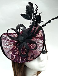 cheap -Tulle / Feather / Net Kentucky Derby Hat / Headbands / Fascinators with 1 Wedding / Special Occasion Headpiece / Hats