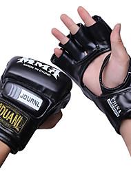 Недорогие -Боксерские перчатки Для Бокс Без пальцев Защитный Кожа Белый / Черный / Красный