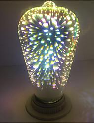 abordables -1pc st64 feux d'artifice décoratifs 3d e27 edison ampoule parti chaud blanc décoratif led globe globe ac85-265v