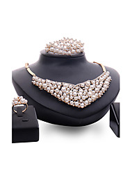 cheap -Women's Jewelry Set Statement Personalized Luxury Fashion Euramerican Imitation Pearl Rhinestone Earrings Jewelry Gold For Wedding Party Engagement / Rings / Bracelets & Bangles