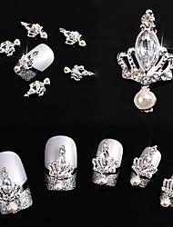 cheap -10pcs-3d-crown-bow-tie-crystal-rhinestone-alloy-nail-art-glitters-diy-decoration-silver-crown