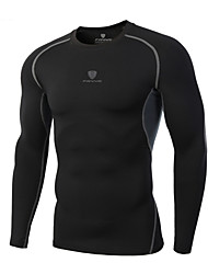 cheap -Men's Running Shirt Retro Running Exercise & Fitness Racing Tee / T-shirt Top Long Sleeve Activewear Breathable Quick Dry Comfortable Stretchy
