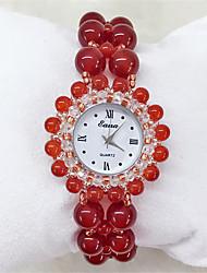 cheap -Women's Fashion Watch Quartz Analog Red / Jade