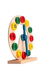 Недорогие -Деревянные часы Игрушки Круглый Образование Дерево Детские Куски
