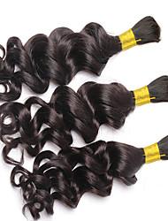 cheap -3 Bundles Brazilian Hair Curly Deep Wave Curly Weave Human Hair Bundle Hair Human Hair Weaves Human Hair Extensions / 8A