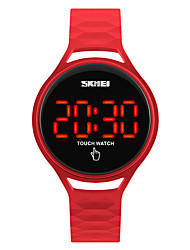 cheap -SKMEI Sport Watch Wrist Watch Digital Watch Japanese Digital Silicone Black / Blue / Red 30 m Water Resistant / Waterproof Cool Digital Ladies Fashion - Dark Blue Yellow Red Two Years Battery Life