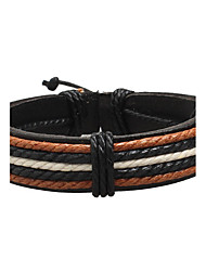 cheap -Men's Leather Bracelet woven Punk Rock Fashion Hip-Hop Leather Bracelet Jewelry Brown For Christmas Gifts Anniversary Birthday Gift Sports Valentine
