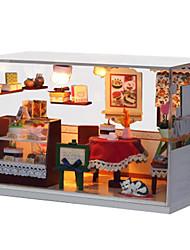 abordables -Maison de Poupées Kit de Maquette A Faire Soi-Même Meuble En bois Bois Unisexe Jouet Cadeau