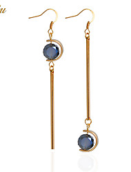 cheap -Women's Crystal Drop Earrings Earrings Ball Personalized Luxury Basic Simple Style Fashion Euramerican Zircon Earrings Jewelry Light Blue For Christmas Gifts Wedding Party Special Occasion Halloween