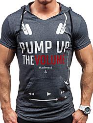 cheap -Men's Cotton Running T-Shirt Running Shirt Running Exercise & Fitness Leisure Sports Breathable Soft Comfortable Sportswear Patchwork Tee / T-shirt Hoodie Sweatshirt Short Sleeve Activewear