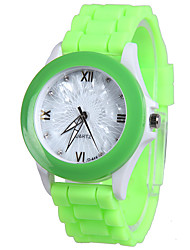 cheap -Women's Fashion Watch Quartz Silicone Band Casual Blue Green Pink