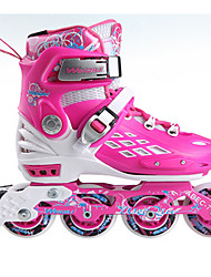 cheap -Inline Skates Kid's Adjustable, LED Lights, Wearproof Blue, Blushing Pink Ice Skating / Roller Skating