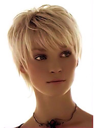 cheap -Human Hair Blend Wig Short Straight Pixie Cut Short Hairstyles 2020 With Bangs Berry Straight Machine Made Women's Medium Auburn#30 Strawberry Blonde / Light Blonde Jet Black #1