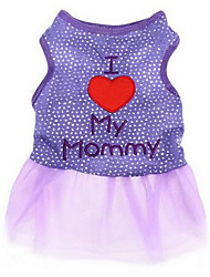 cheap -Dog Dress Dog Clothes Black Blue Pink Costume Baby Small Dog Cotton Princess Casual / Daily Fashion XS S M L XL