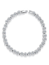 cheap -Women's Crystal Chain Bracelet Charm Bracelet Crystal Bracelet Jewelry Silver For Wedding Party Daily