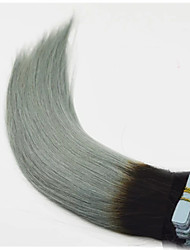 cheap -PANSY Tape In Human Hair Extensions Straight Ombre Remy Human Hair / Human Hair Indian Hair