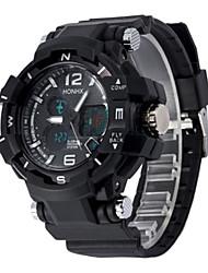 Недорогие -Муж. Спортивные часы электронные часы Цифровой силиконовый Черный 30 m Аналого-цифровые Белый Черный Синий