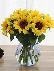 cheap -6 Branches Sunflower Artificial Flowers Home Decoration Wedding Supply 8*22cm