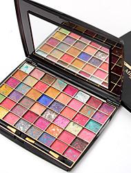cheap -48 Colors Eyeshadow Palette Powders Eye Matte Shimmer Glitter Shine smoky Cosmetic Gift