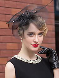 Недорогие -тюль стразы перо шляпы головной убор классический женский стиль