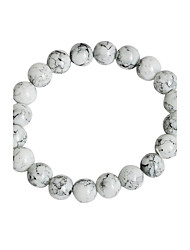 cheap -Men's Women's Bead Bracelet Luxury Vintage Bohemian Natural Punk Synthetic Gemstones Bracelet Jewelry White For Christmas Gifts Wedding Party Special Occasion Halloween Anniversary / Birthday